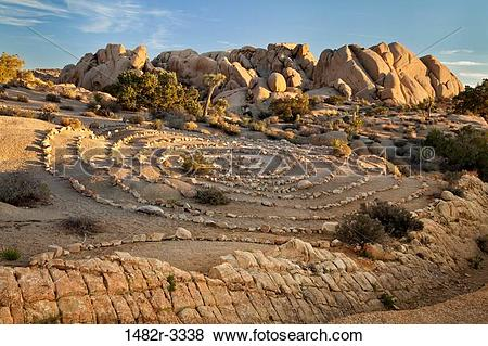 Pictures of USA, California, Joshua Tree National Park, Rock Art.