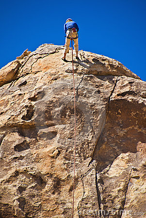 Rock Climb Joshua Tree National Park Stock Photography.
