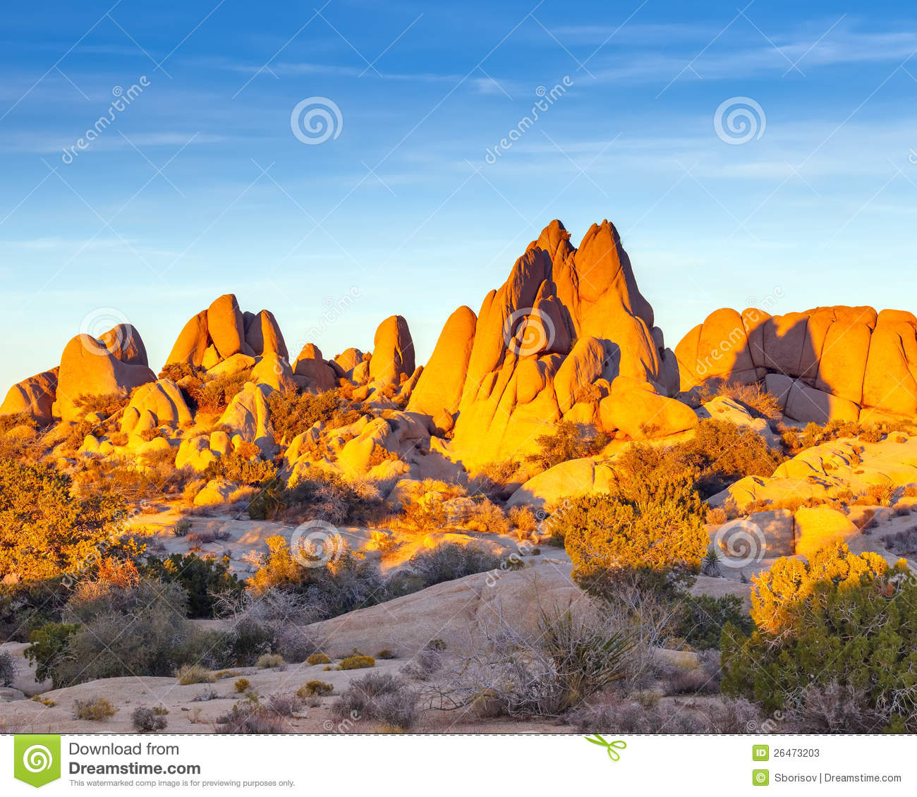 Rocks In Joshua Tree National Park Stock Photos.