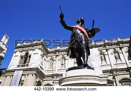 Stock Photograph of Low angle view of a statue, Sir Joshua.