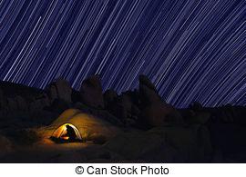 Stock Bilder von joshua, baum, Park, Camping, Nacht.
