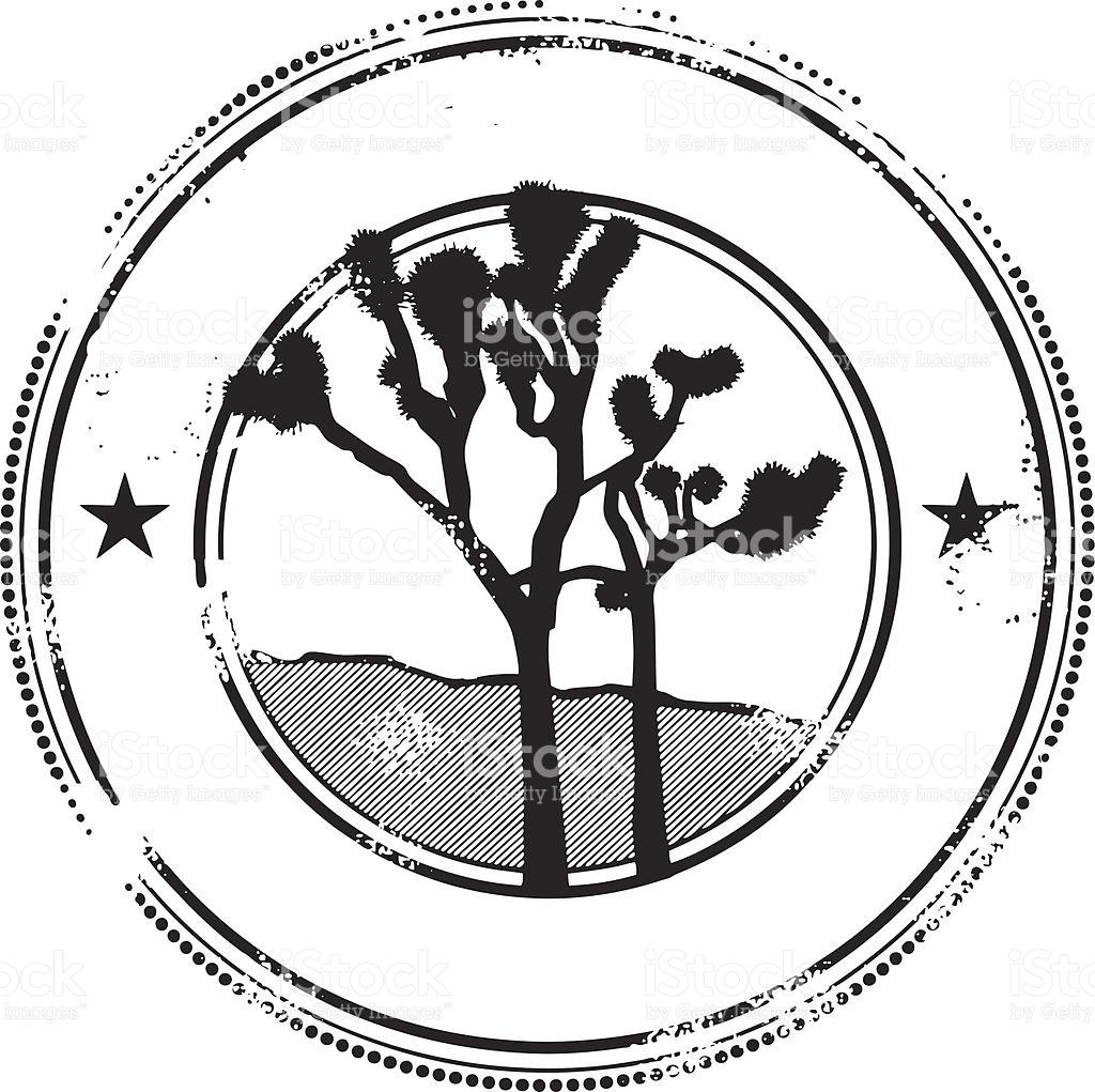 Splendid Joshua Tree Stamp Vektor Illustration 165980266.