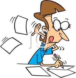 Secretary Frantically Jotting Notes Down.