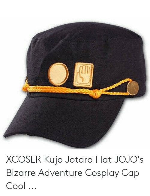 XCOSER Kujo Jotaro Hat JOJO's Bizarre Adventure Cosplay Cap Cool.