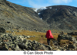 Stock Images of Mountains and valleys in Jotunheimen, norway.