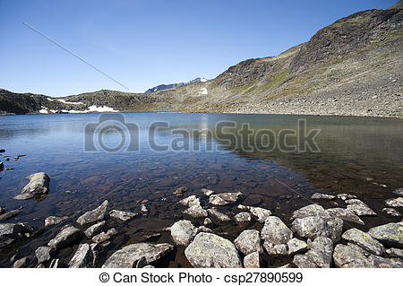 Stock Photographs of Besseggen Ridge in Jotunheimen National Park.