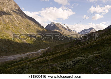 Stock Images of Mountains and valleys in Jotunheimen k11800416.