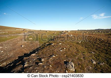 Stock Photos of Mountain plateau Valdresflye, Jotunheimen, Norway.