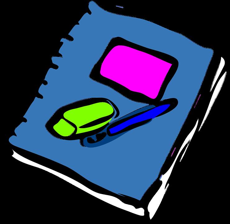 Free vector graphic: Notebook, Journal, Eraser, Rubber.