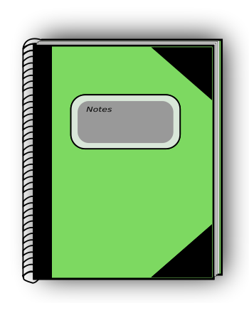 Free Notebook Clipart.