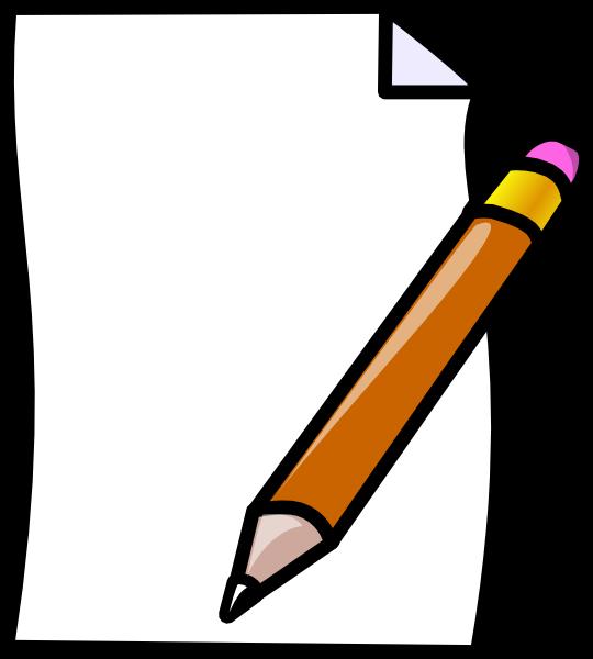 Paper Pencil Clip Art at Clker.com.