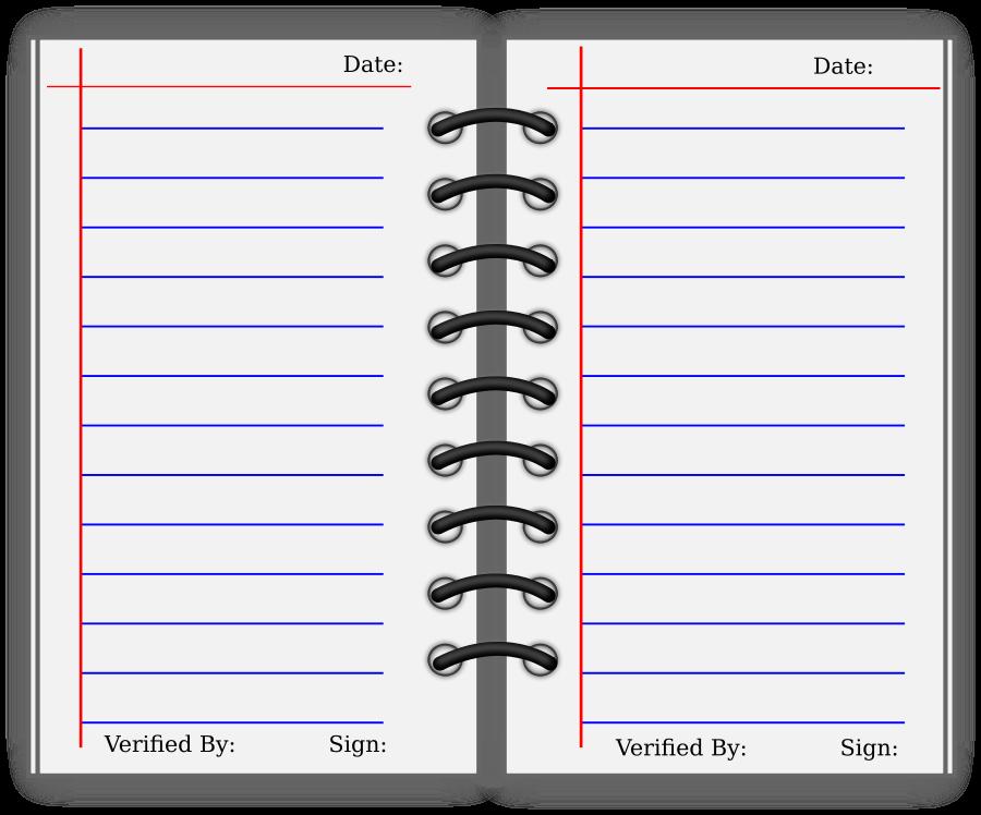 Student Journal SVG Vector file, vector clip art svg file.