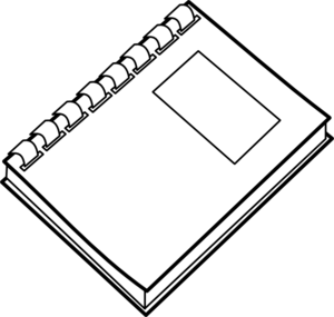 Free Journal Clipart Black And White, Download Free Clip Art.