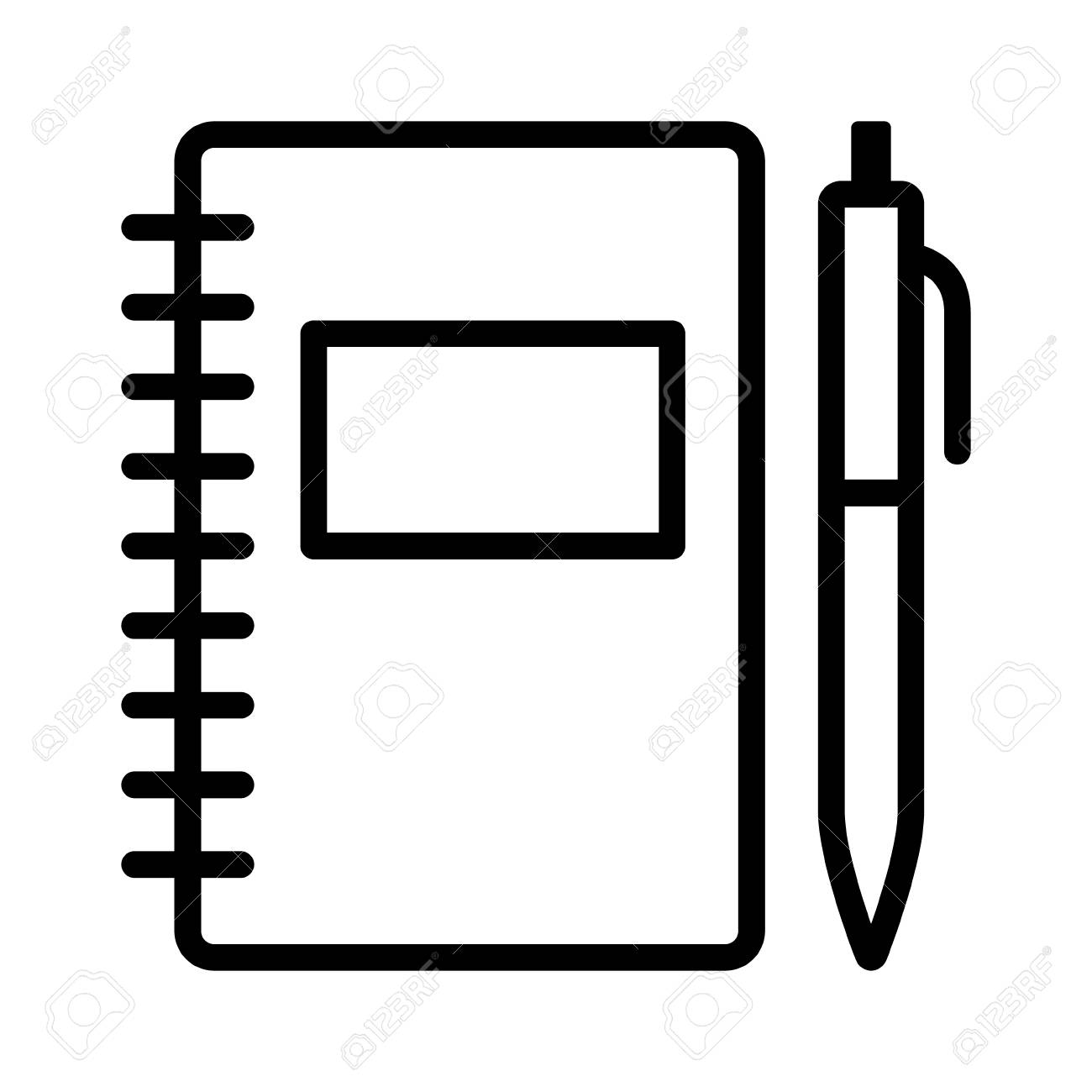 Note taking notebook or diary / journal with pen for writing...