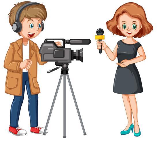 Journaliste et caméraman professionnel.