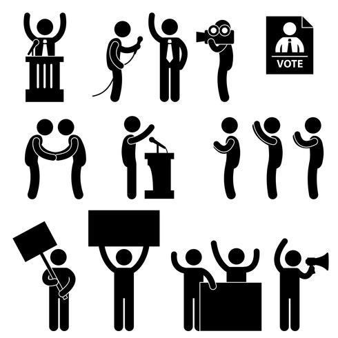 Vote électoral du journaliste politicien..