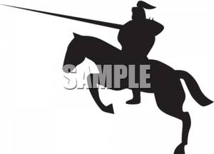 Jousting Silhouette.