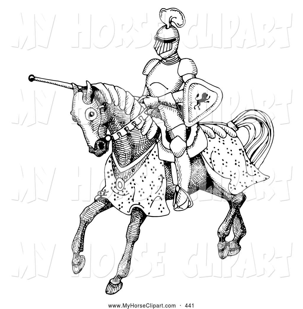 Jousting cliparts.