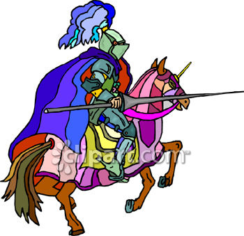 Knight On a Horse with a Jousting Lance.