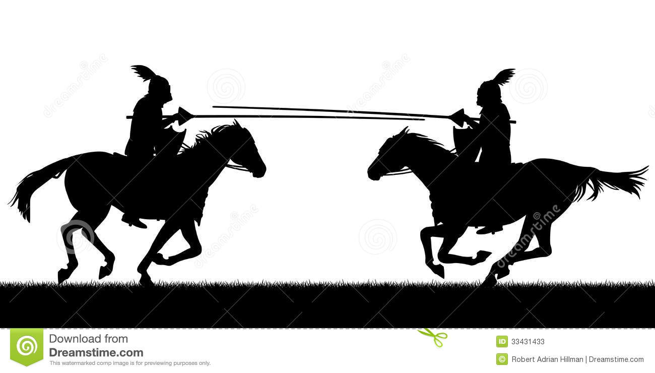 Knights jousting clipart.