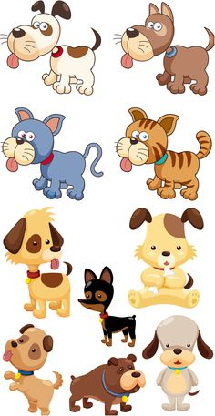 Caricaturas de animales en vector (Cartoon Vector Animals.