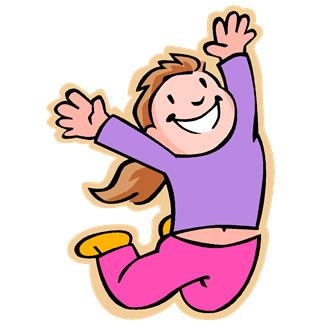 Jumping for Joy Clip Art.