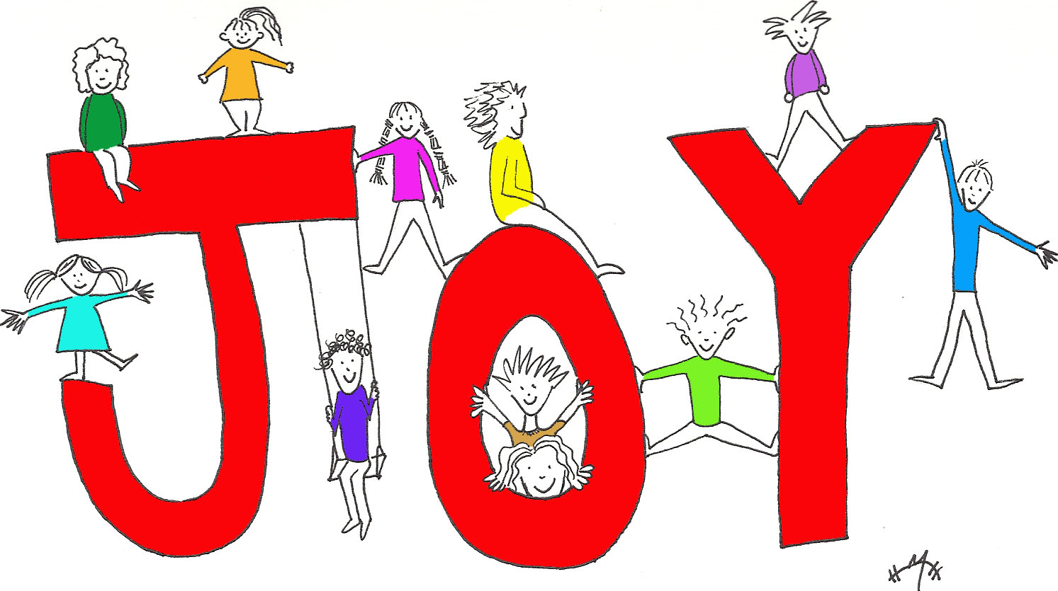 The Word Joy Clipart.