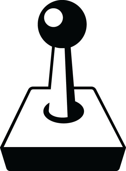 Video Game Joystick Clip Art For Custom Engraved Gifts.