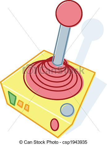 Stock Illustrations of Retro style toy joystick illustration.