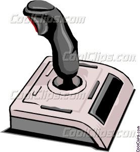 Computer joystick Vector Clip art.