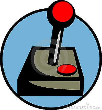 Joystick Videogame Controller Vector Illustration Royalty Free.