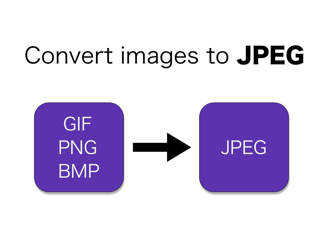 JPEG Converter: Convert GIF/PNG/BMP to JPEG/JPG for Android.