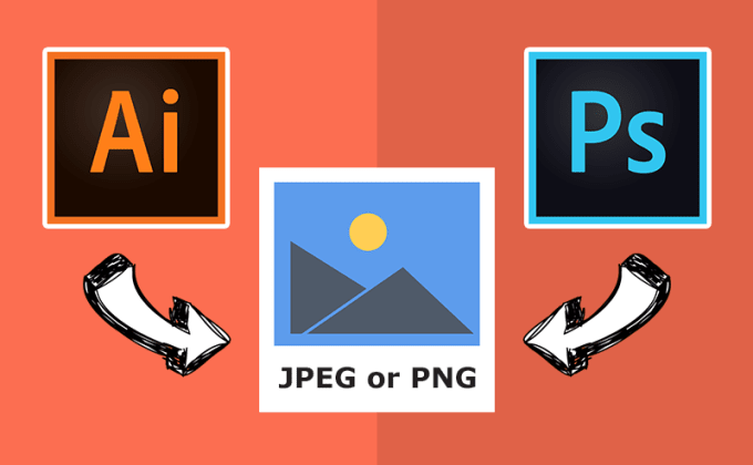 convert ai or PSD to jpeg or png or pdf.