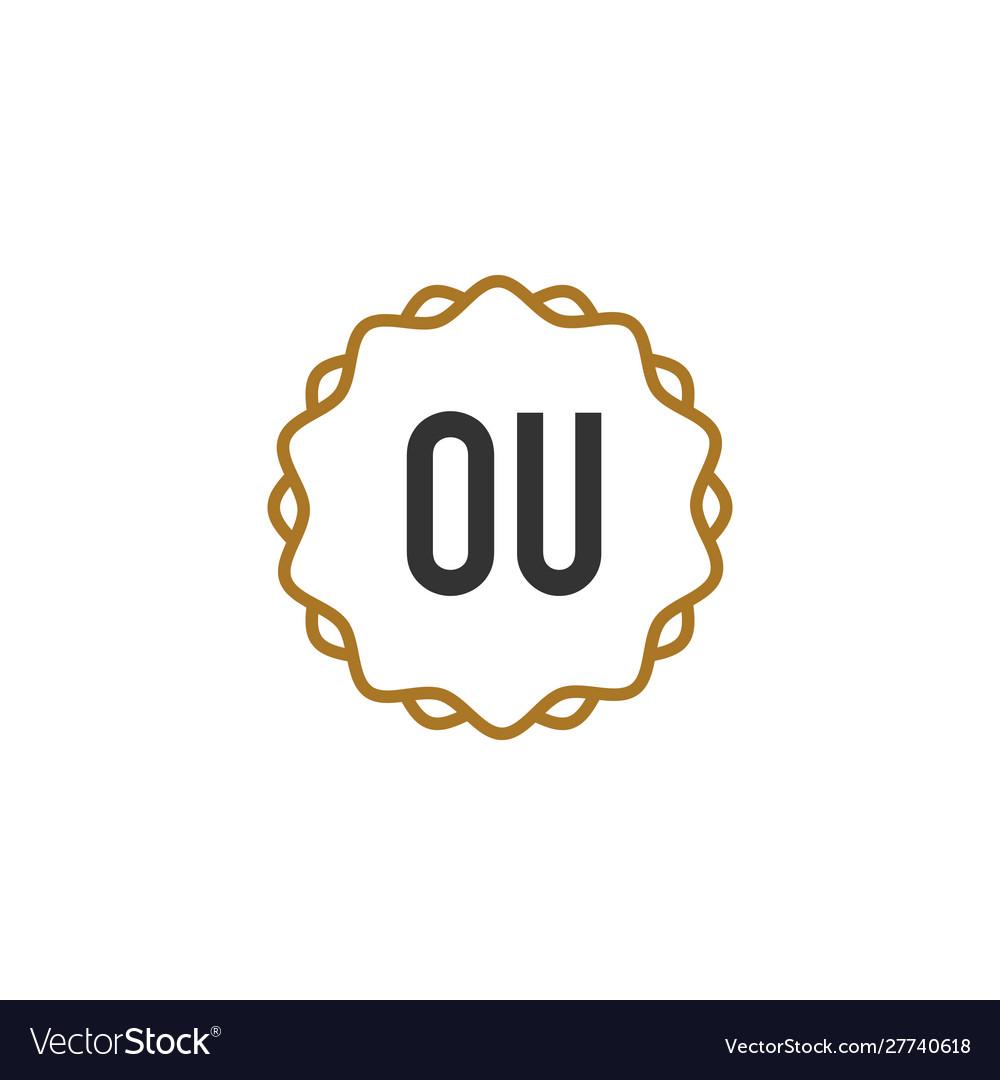 Initial letter ou elegance creative logo.