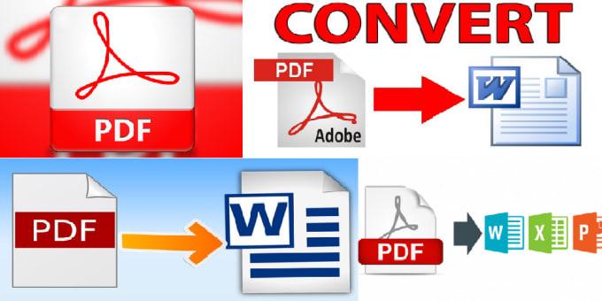 convert PDF to word, excel, powerpoint, jpg,png, jpeg.