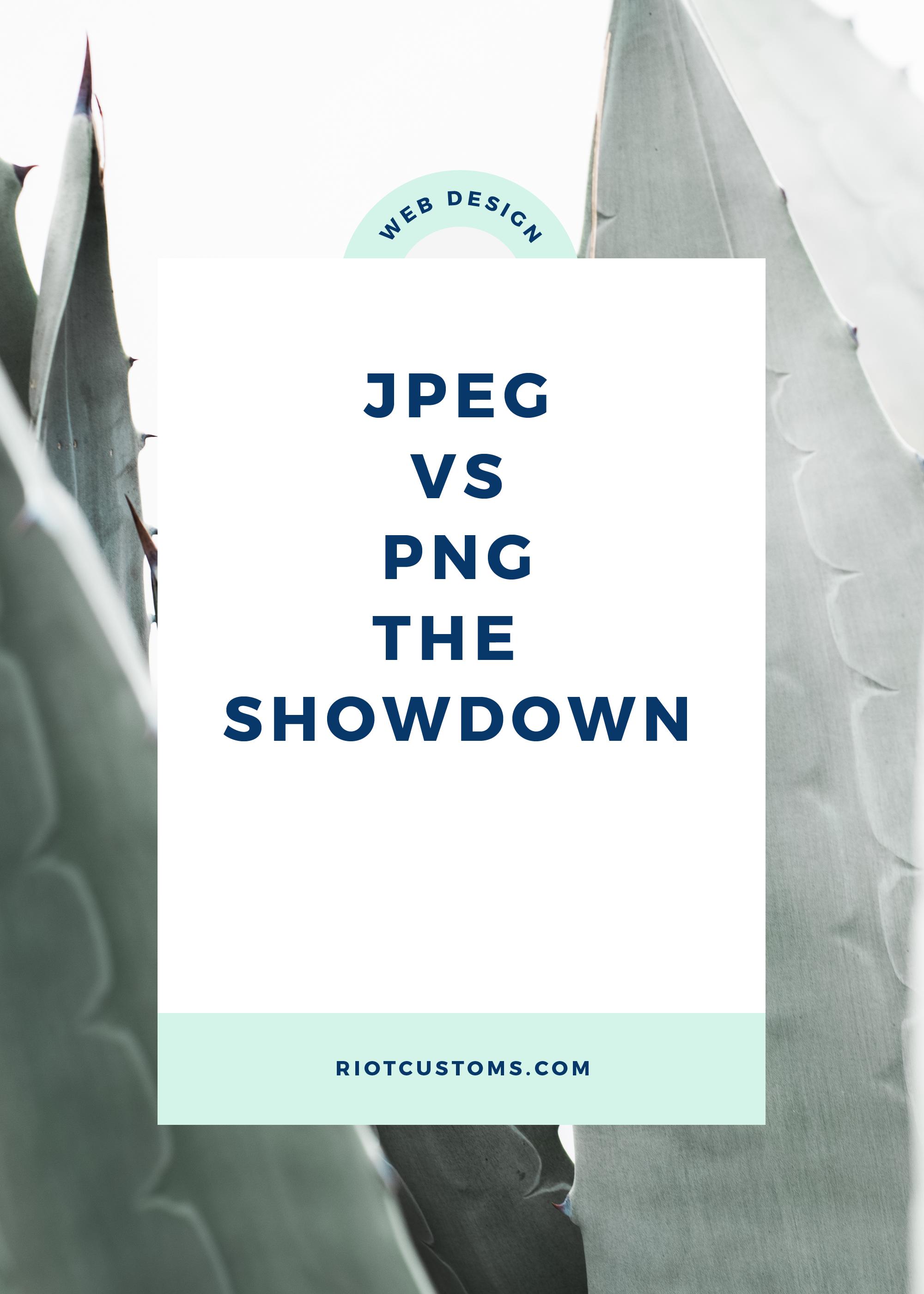 JPEG vs PNG The Showdown.