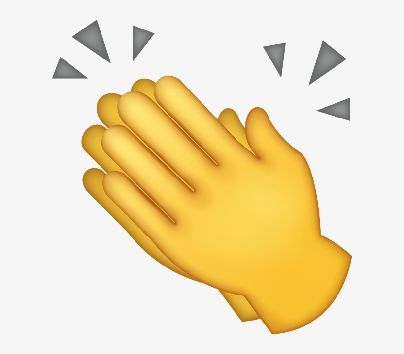 Download Clapping Hands Iphone Emoji Icon In Jpg And.