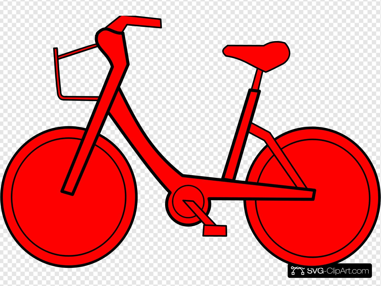 Bicyclette Clip art, Icon and SVG.