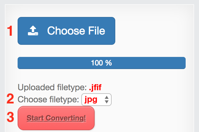 Convert JFIF to JPG online without installation.