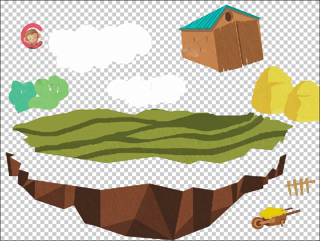 turn 3 images to layers in psd, Al, Gif, jpg and PNG.