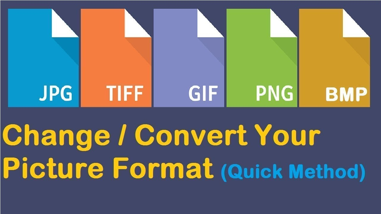 How to Change Picture Format JPEG PNG GIF BMP Etc Complete Learn 2018.
