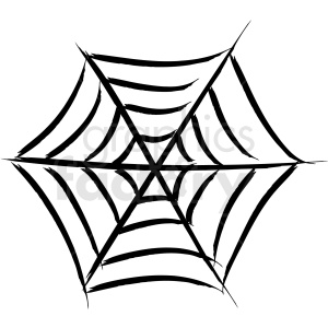 spider web vector icon clipart. Royalty.