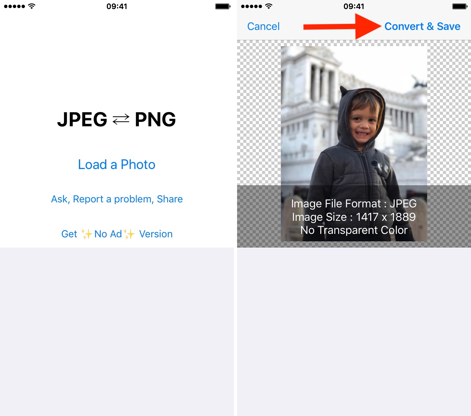 How to convert various image file types to JPG or PNG on iPhone or iPad.