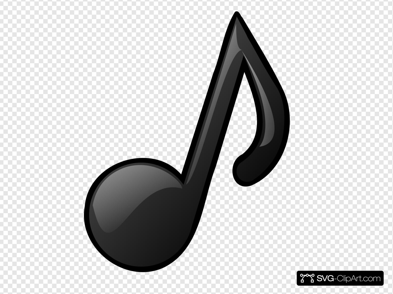 Musical Note Clip art, Icon and SVG.