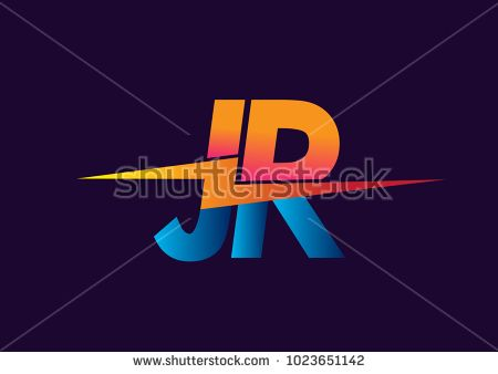 Letter JR logo with Lightning icon, letter combination Power.