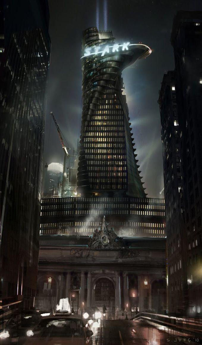 Stark tower clipart.
