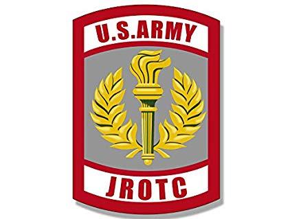 American Vinyl Army JROTC Seal Shaped Sticker (Junior Military ROTC Logo).