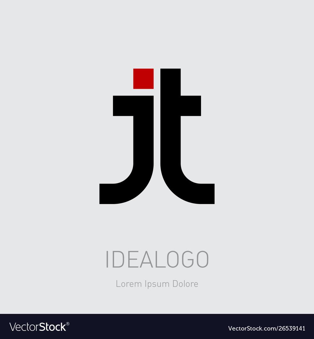 J and t initial logo jt initial monogram logotype.