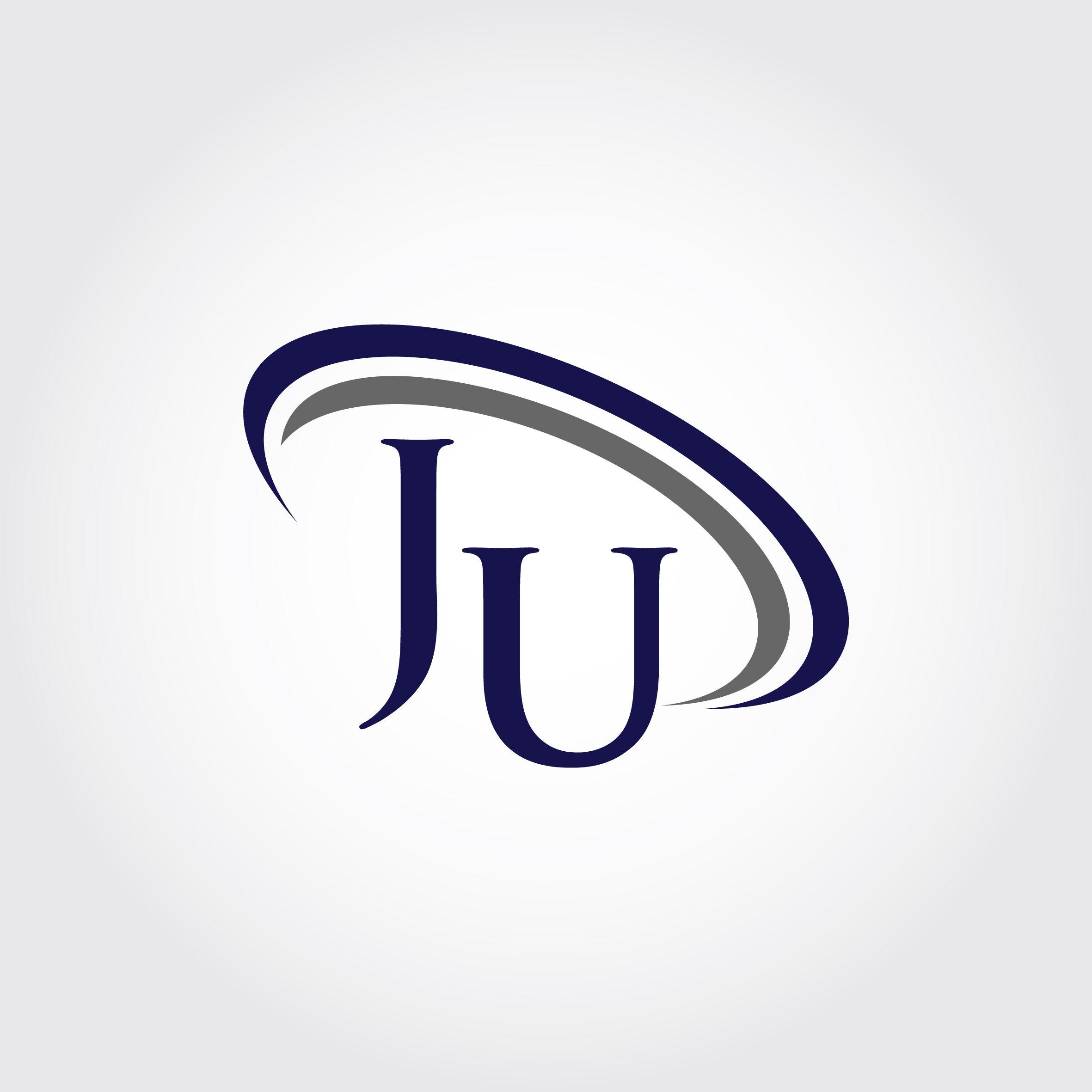Monogram JU Logo Design By Vectorseller.