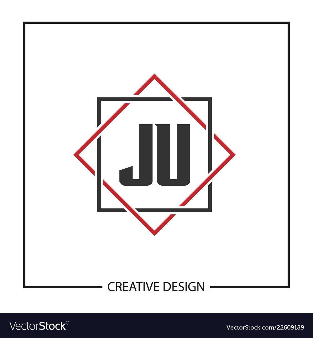 Initial ju letter logo template design.